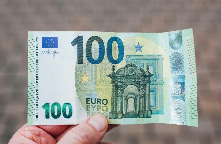 biljet van 100 euro
